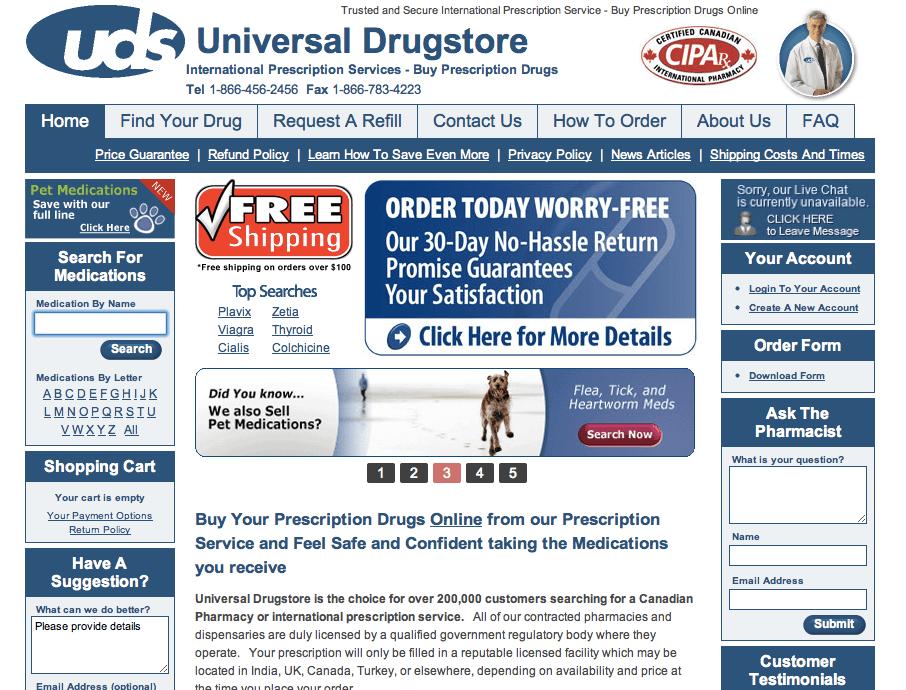 Universal drugstore coupons