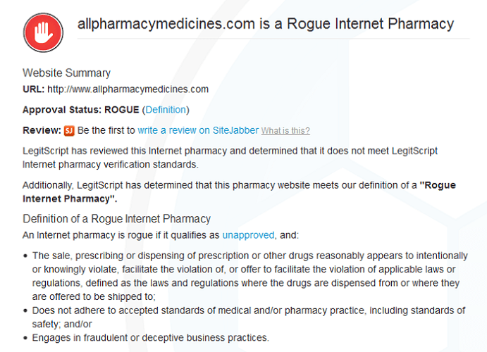 Allpharmacymedicines.com Reviews