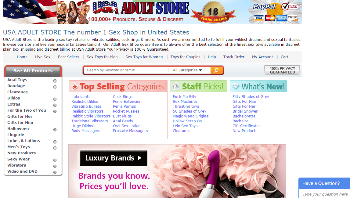Sex shop online usa in Perth