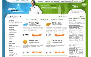 Reliablemedicationrx.com Home Page