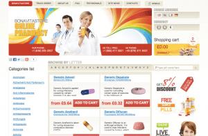 BonaVitaStore.com Main Page