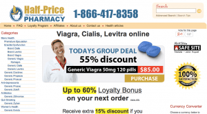 Half-price-pharmacy.com Home Page