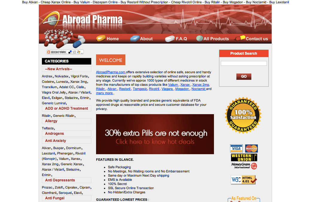 Abroadpharma com review: Unsafe website when purchasing