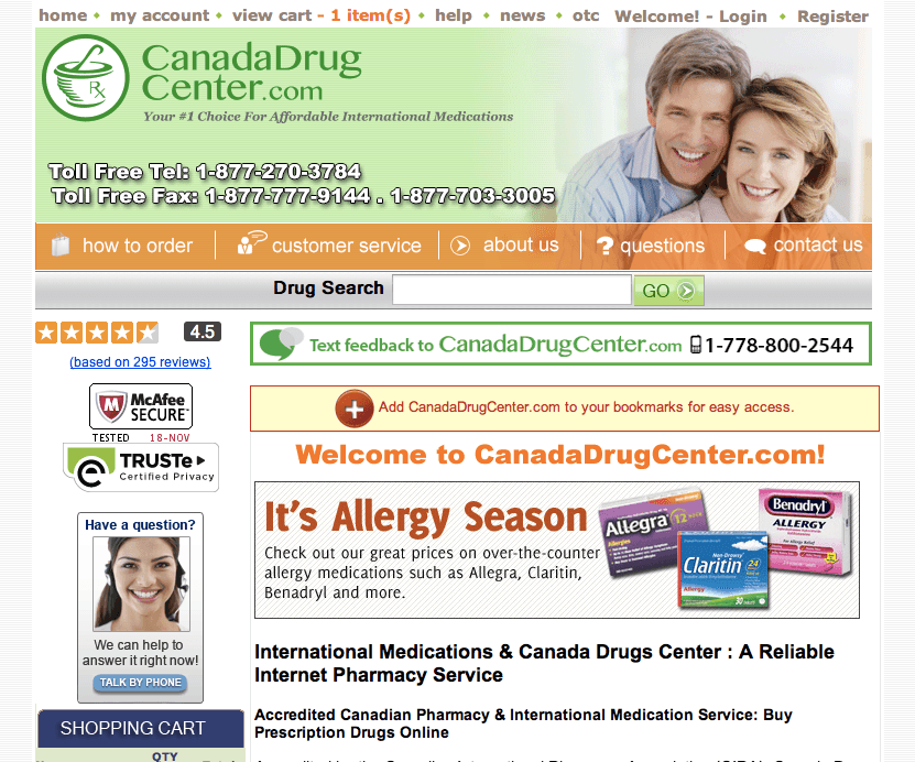 Canadian Online Pharmacy | (No Prescription) WHO