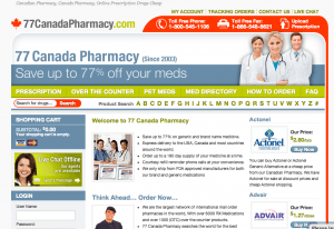 77canadapharmacy.com review