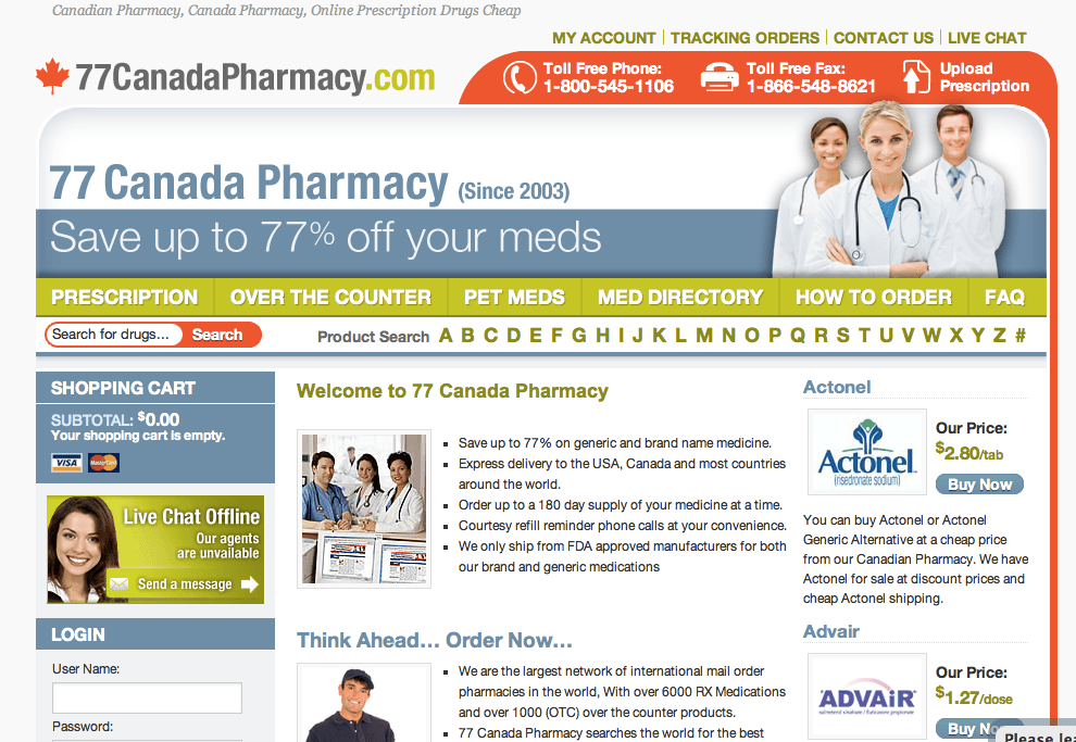 Our Canadian Online Pharmacy Offering World Class Savings On Generic Medications Plus Free World Wide Shipping, Friendly Support And Best Offers.