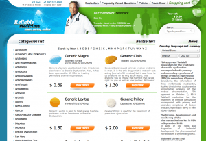 Reliablemedicationsrx.com Home Page