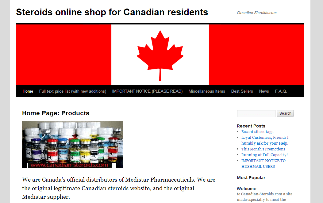 Canadian-steroids com Review: Businesses on the Site Are