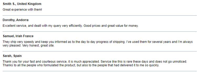 1rx.biz Customer Report