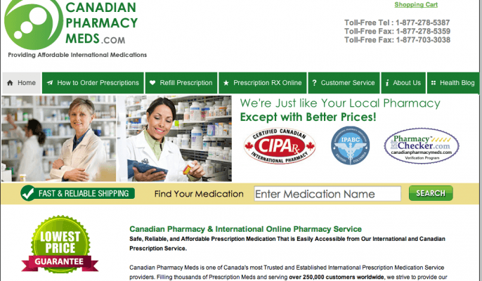 To protect your health and safety, we only accept medication listings from licensed online U.S., International and Canadian pharmacies that pass a rigorous online pharmacy verification process, that adheres to these extensive requirements: Requires a prescription; Pharmacy license is valid and verified.