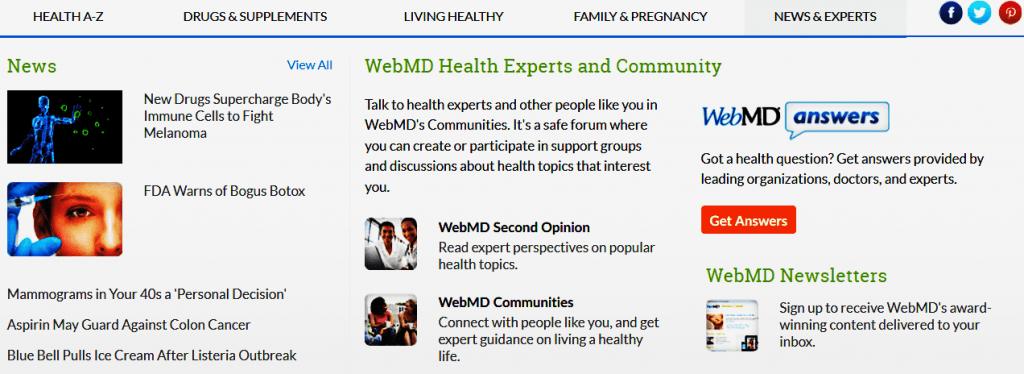 WebMD.com Reviews