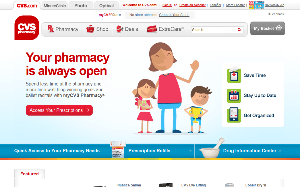 cvs com review - good products  good service
