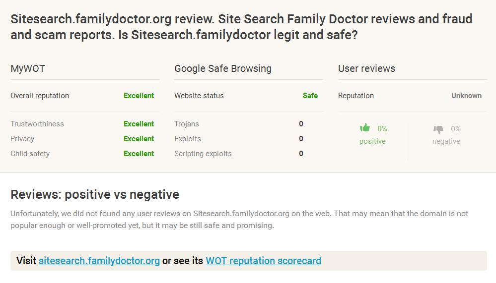 Familydoctor.org Reviews