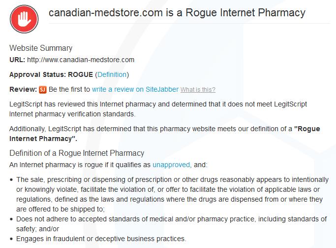 Canadian-medstore.com Reviews