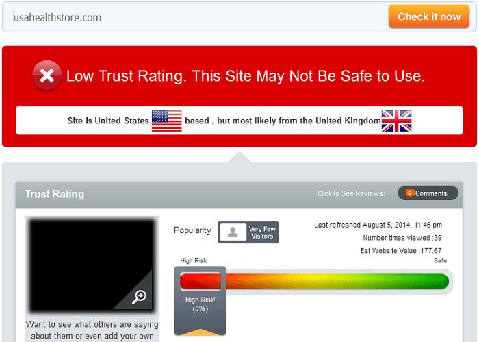 Usahealthstore.com Reviews