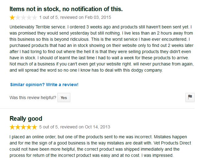 Vetproductsdirect.com Reviews