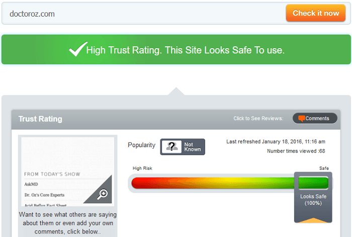 Doctoroz.com Reviews