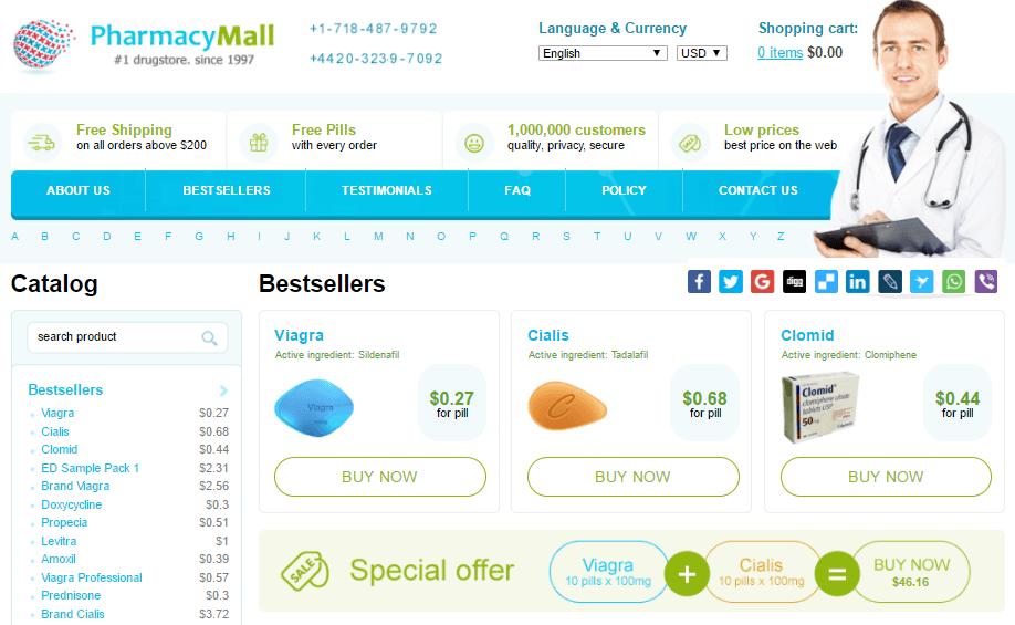 Erectafil 20mg on Pharmacy Mall
