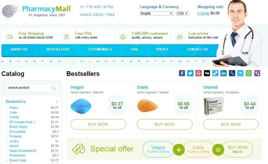 Nizagara on Pharmacy Mall Website
