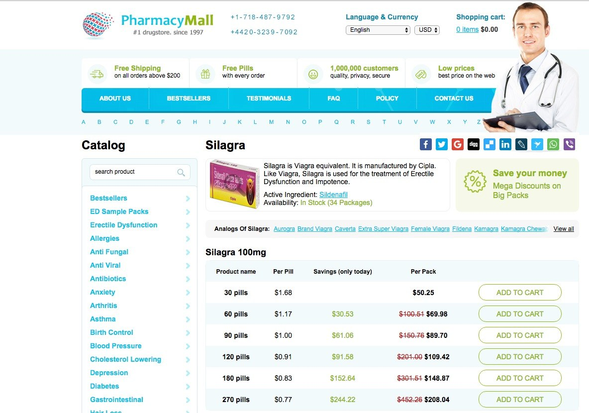 Silagra 100 mg Prices On Pharmacy Mall