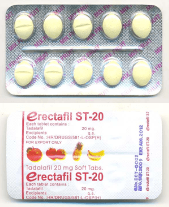 Erectafil 20mg Blister