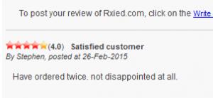 Rxied.com Feedback