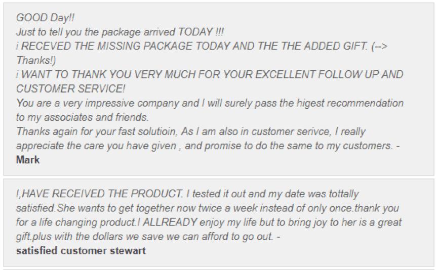 Trustedallovertheworld.com Customer Reviews