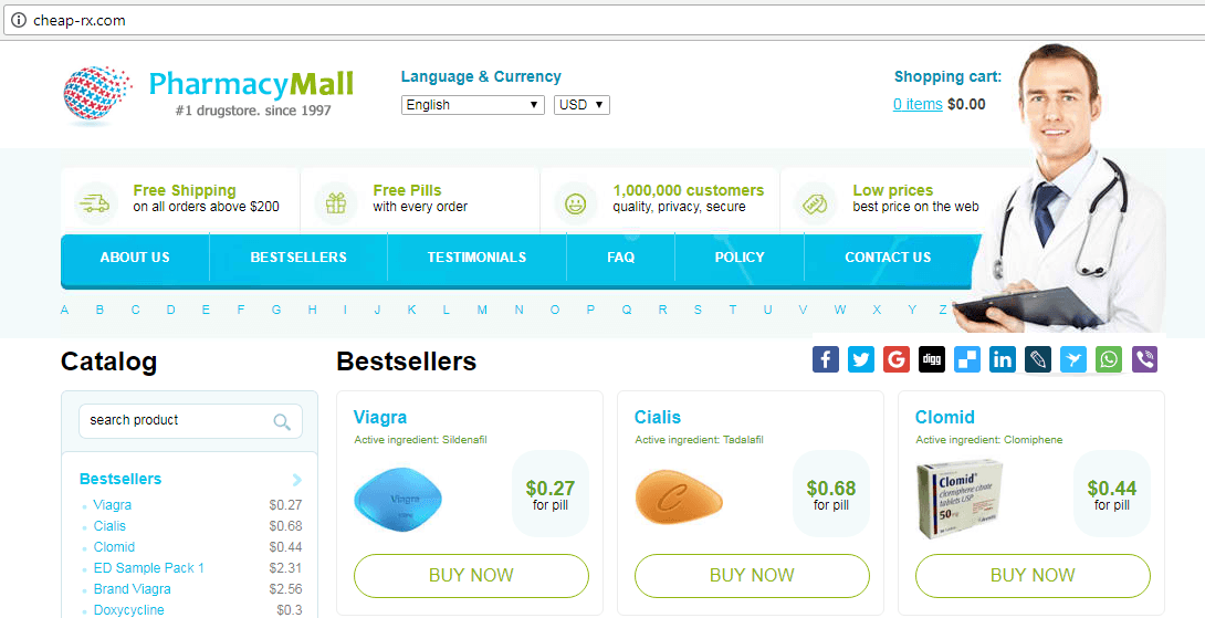 Pharmacy Mall (cheap-rx.com) Website Desigh