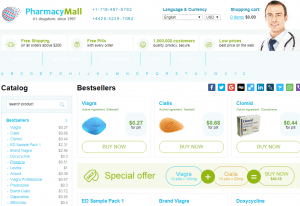 Pharmacy Mall Main Page