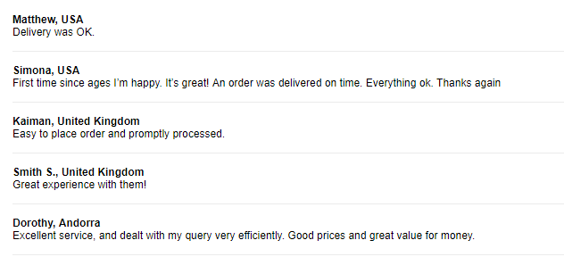 Excellent Customer Reviews for Cheap Pills